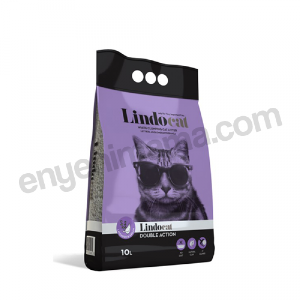 Lindo Cat Double Action Lavanta Kokulu Ince Kedi Kumu - 10LT